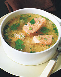 Asian Salmon-and-Rice Soup