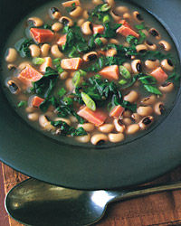 Black-Eyed-Pea Soup with Greens and Ham