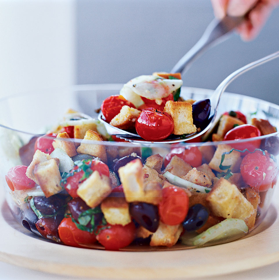Bread Salad with Roasted Tomatoes and Capers