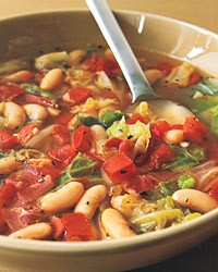 Cabbage-and-White-Bean Soup with Prosciutto
