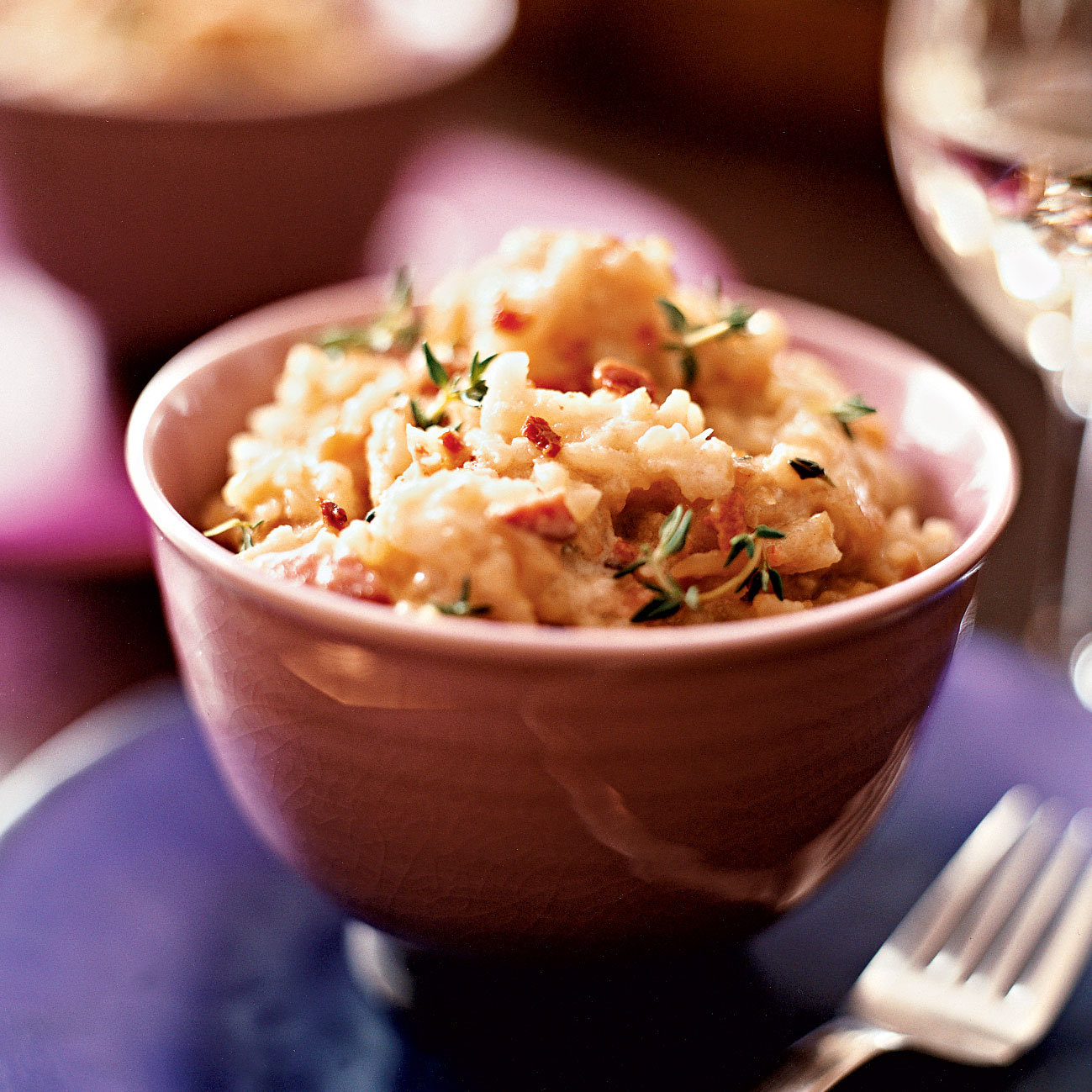 Caramelized-Onion Risotto with Bacon
