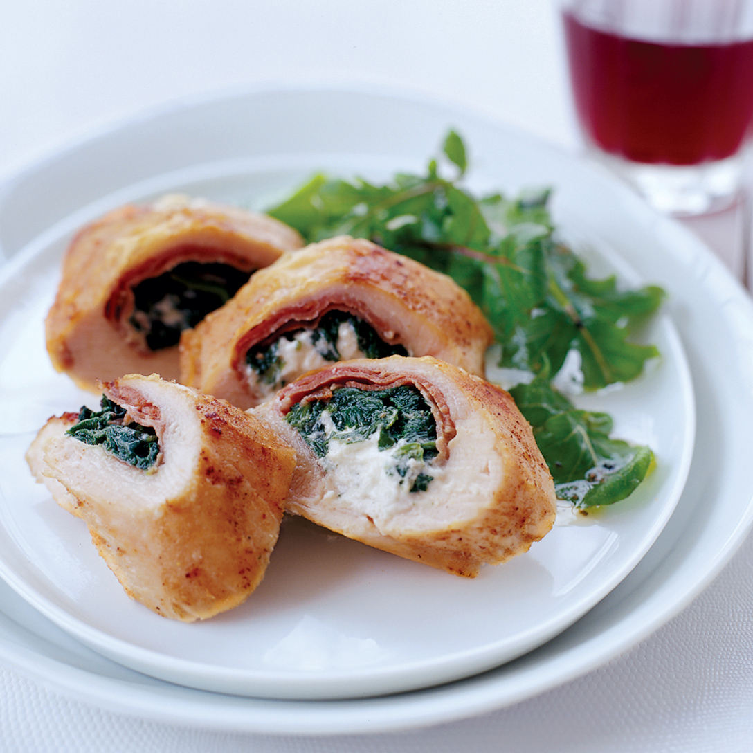 Chicken Stuffed with Prosciutto, Spinach and Boursin