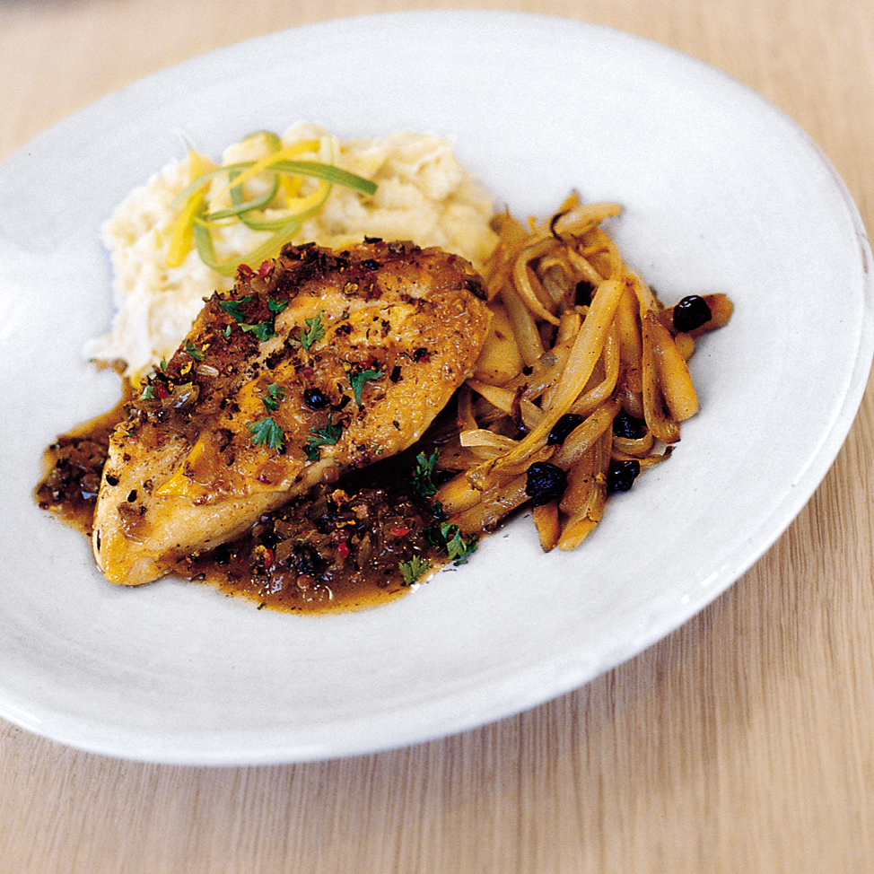 Chicken with Ale and Juniper Berries