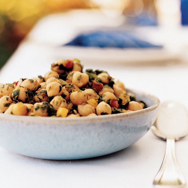 Chickpea Salad with Red Pepper Confetti