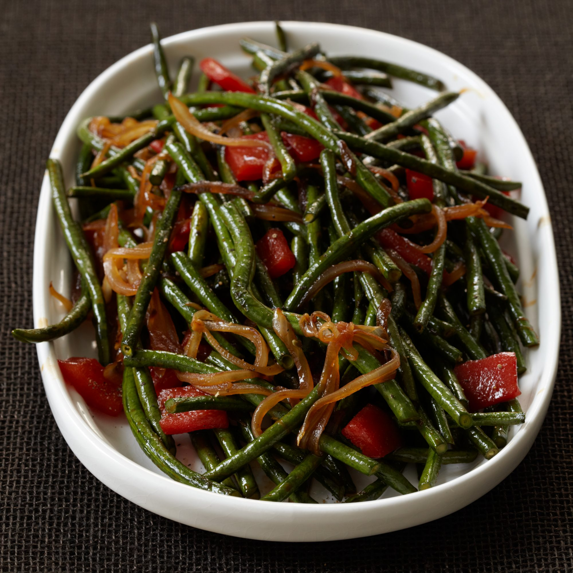 Chinese Long Beans with Cracked Black Pepper