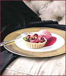 Cranberry-Pear Tartlets with Cranberry Ice Cream