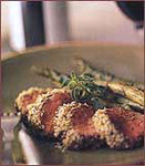 Lamb Loins with Mustard Crumbs