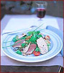 Smoked Duck Salad with Foie Gras and Walnuts