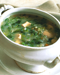 Escarole Soup with Chicken and Rice