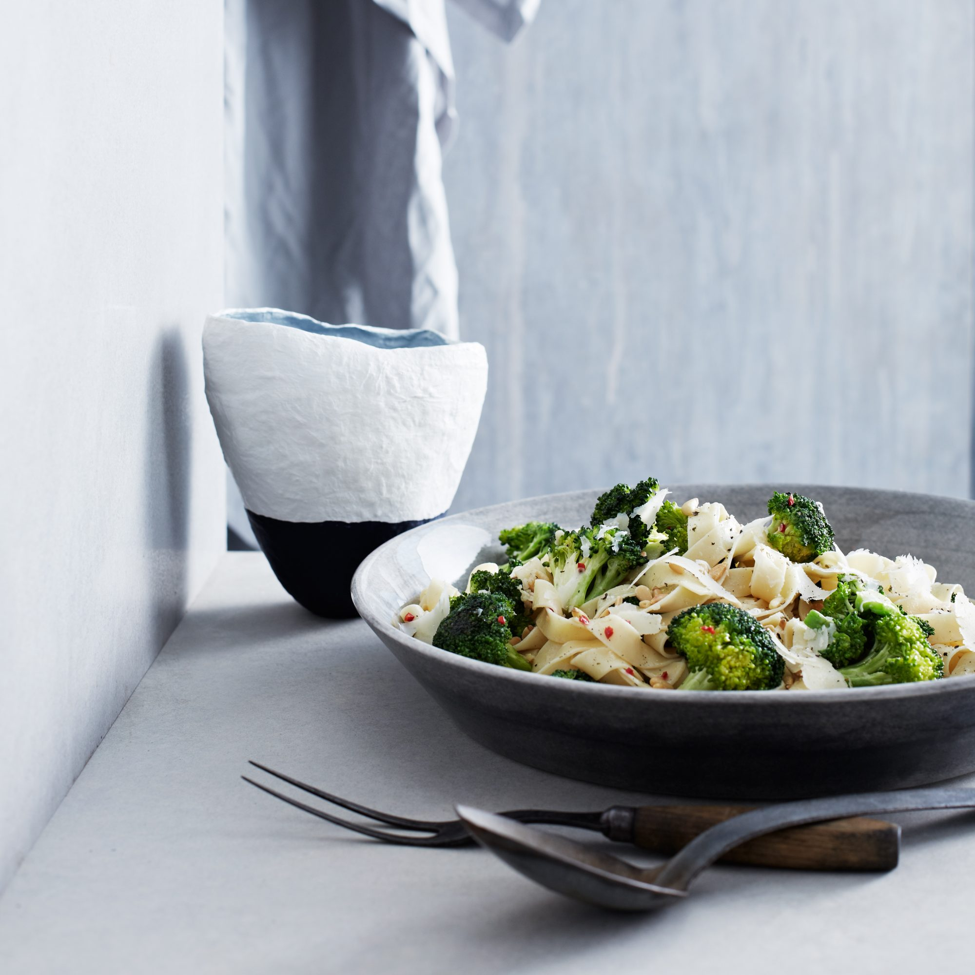 Fettuccine with Spicy Broccoli