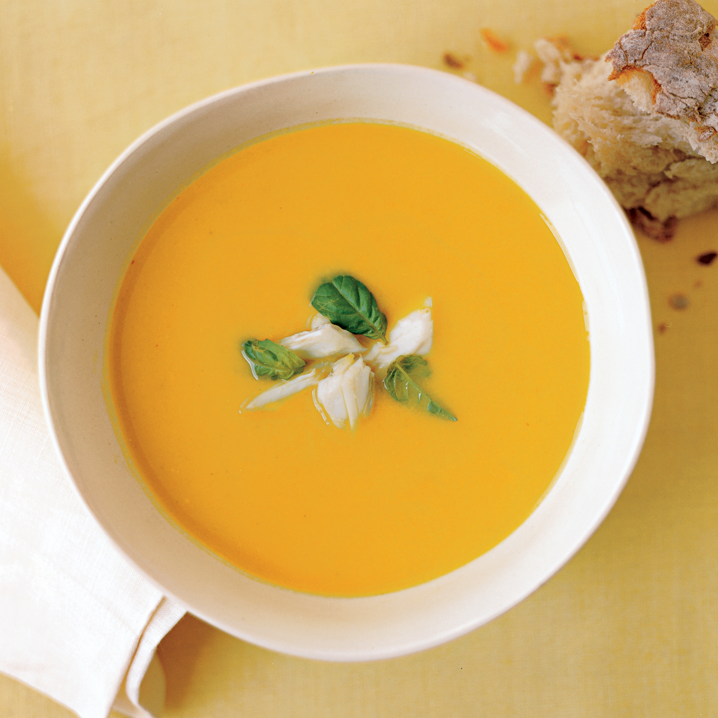 Fresh Corn Soup with Crab