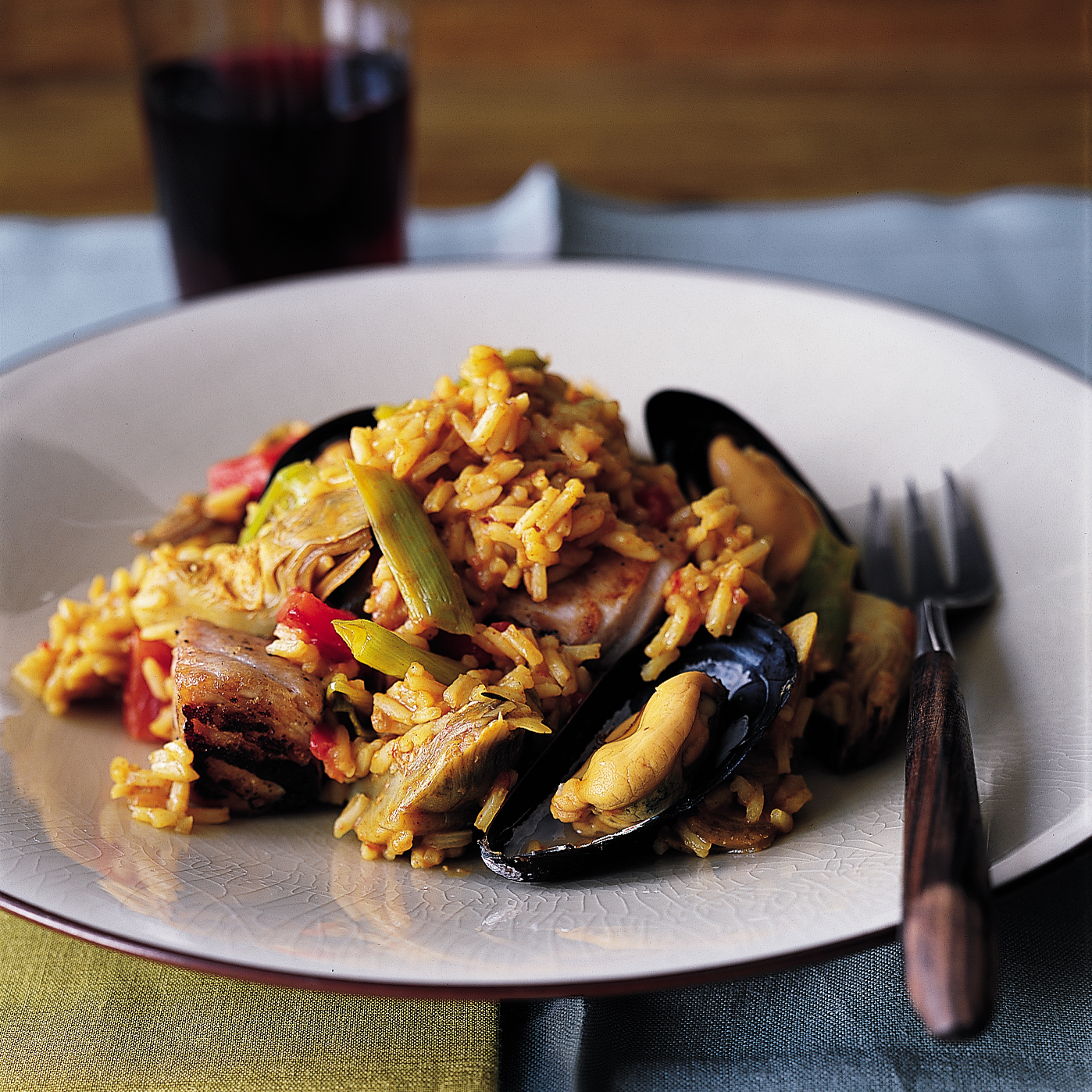 Fresh Tuna and Mussel Paella