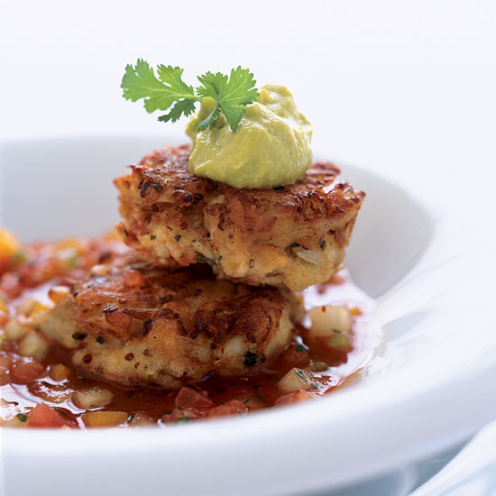 Crab Cakes with Bloody Mary Gazpacho