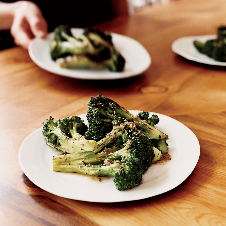 Grilled Broccoli with Anchovy Dressing