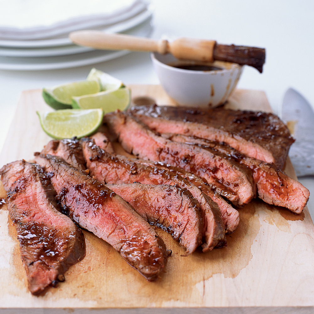Grilled Flank Steak with Soy-Chile Glaze
