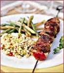 Leg of Lamb Kebabs with Pomegranate Glaze