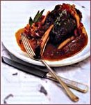 Braised Lamb Shanks with Peppers And Garlic