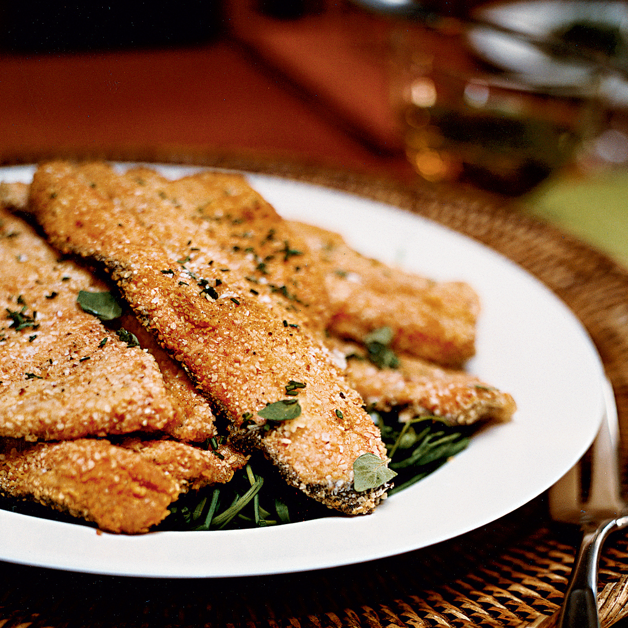 Matzo Meal–Crusted Trout