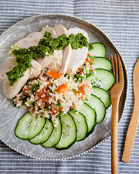Low-Fat Chicken with Watercress Pesto