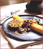 Grilled Polenta with Mushrooms and Toasted Pumpkin Seeds