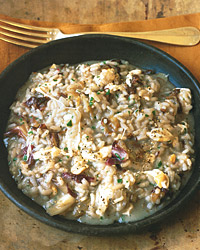 Risotto with Radicchio and Smoked Mozzarella