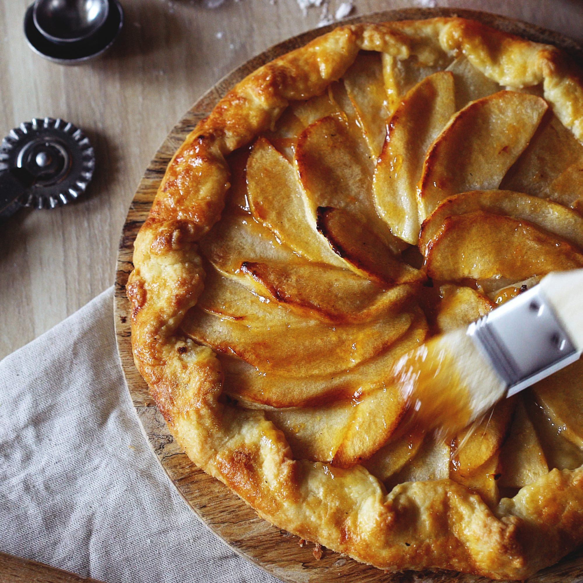 Rustic Apple Tart Recipe Jacques P Eacute Pin Grace Parisi Food Wine