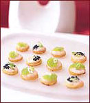 Scallop Toasts with Wasabi Caviar