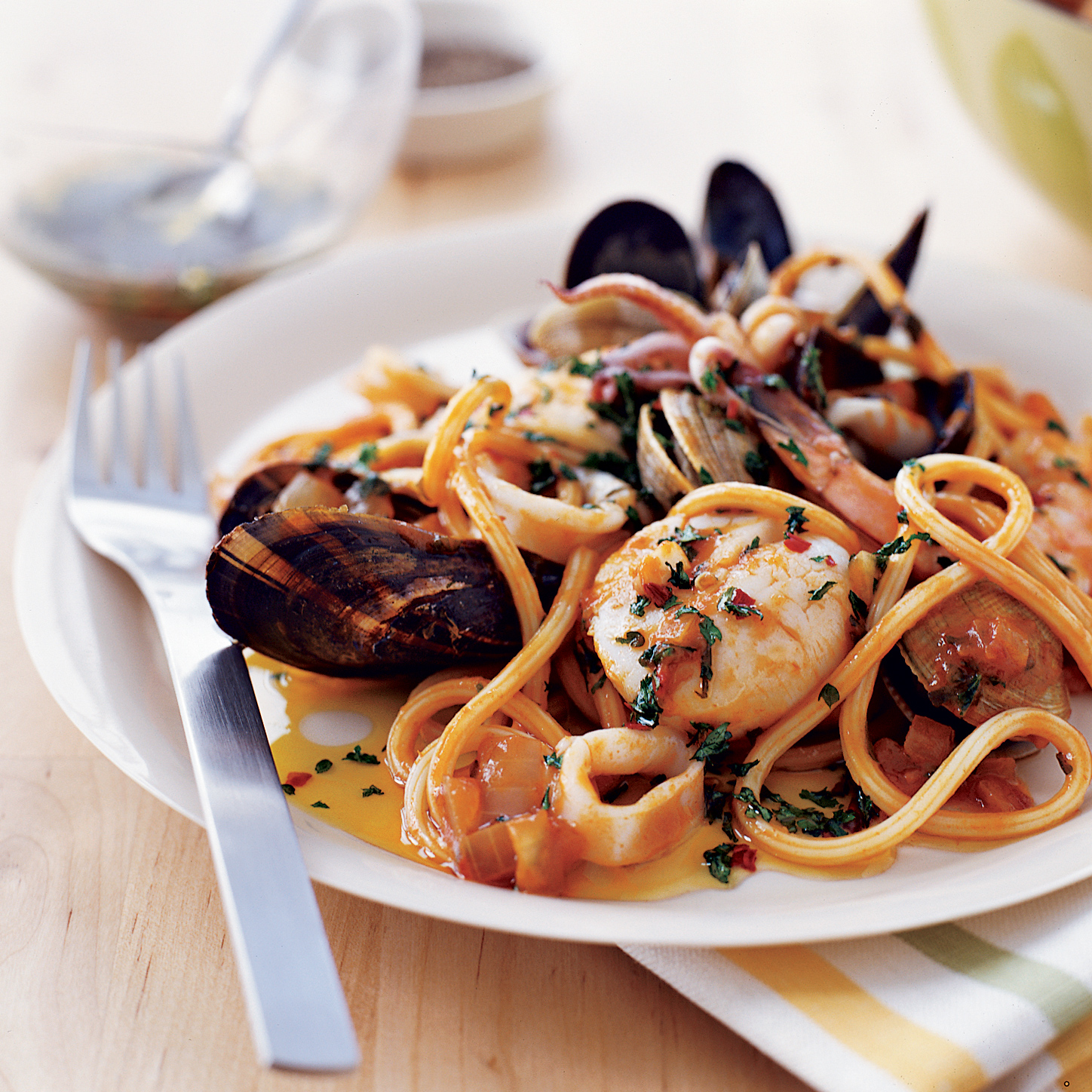 Seafood Pasta with Tuscan Hot Oil