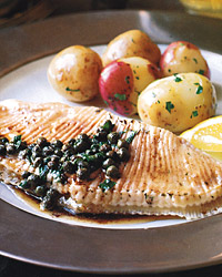 Skate with Capers and Brown Butter