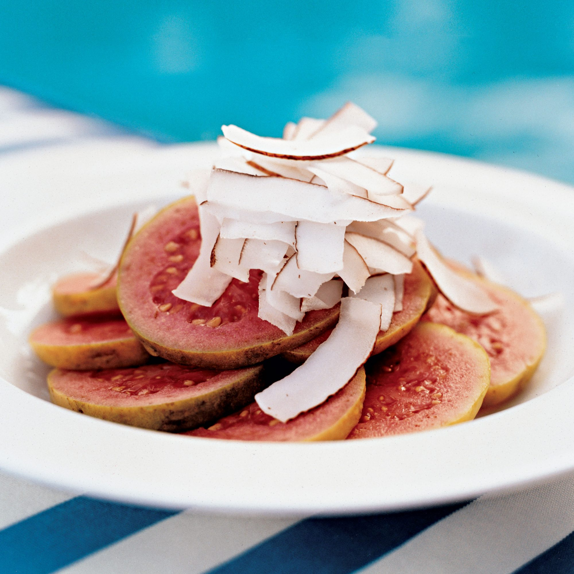 Sliced Fresh Guava with Shaved Coconut