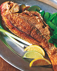 Crisp Whole Red Snapper with Asian Citrus Sauce