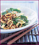 Wok-Charred Squid Salad with Baby Spinach and Cashews