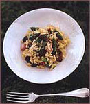 Stir-Fried Sushi Rice with Morels, Ham and Asparagus