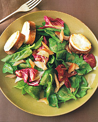 Smoked-Trout Salad with Goat-Cheese Croûtes