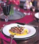 Grilled Tuna with Pepper Sauce
