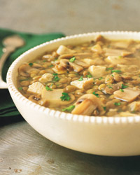 Turkey, Mushroom, and Lentil Soup