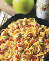 Curried Chicken with Apple over Vermicelli
