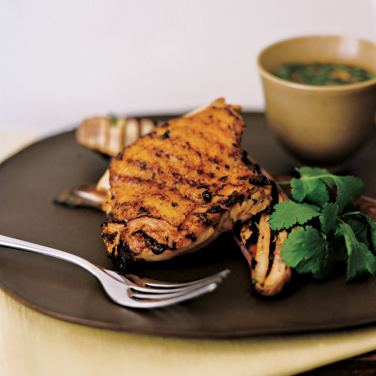 Vietnamese Grilled Chicken and Eggplant