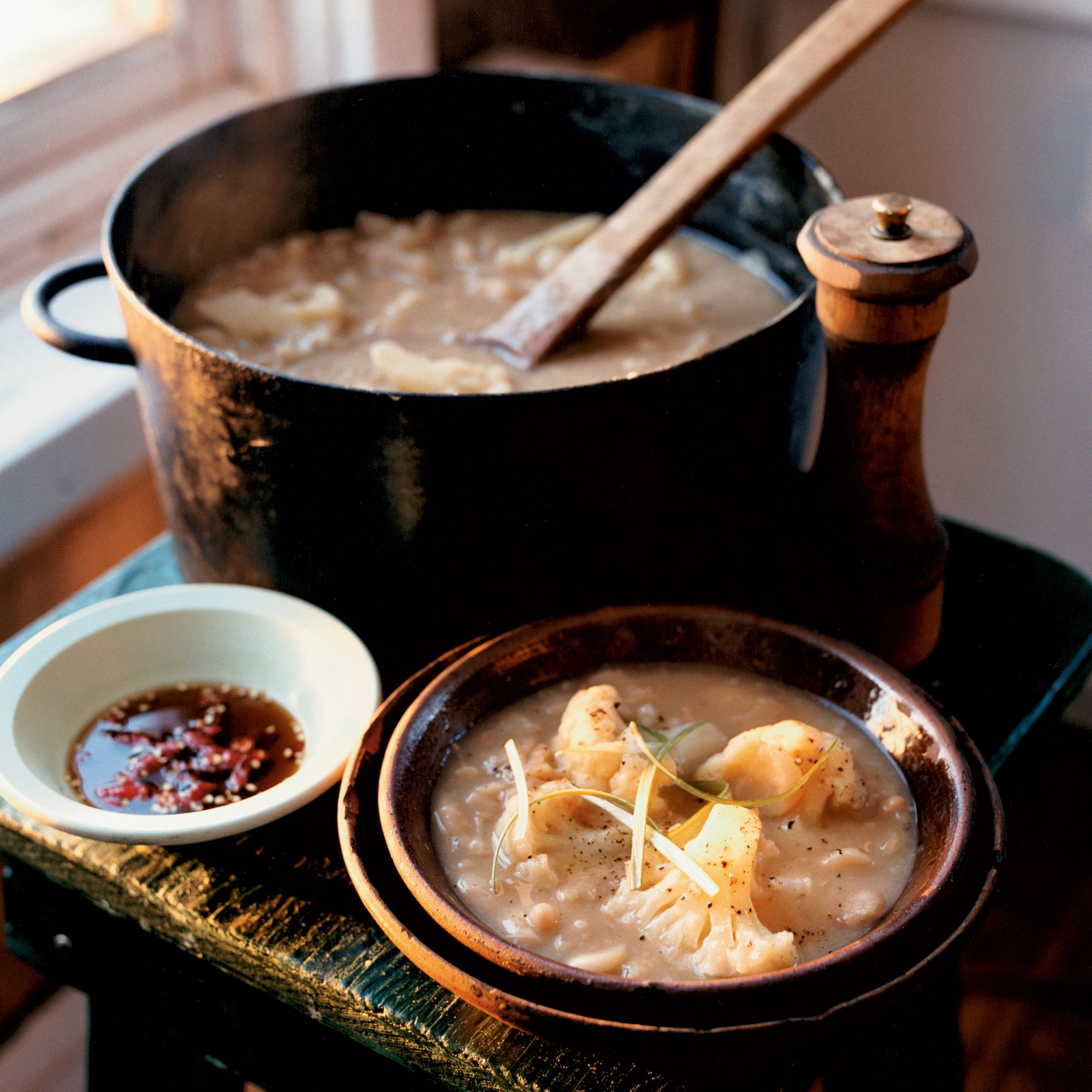 White Bean Soup with Cauliflower