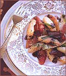 Warm Salad of Winter Fruits, Endives and Pancetta