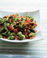 Brussels Sprouts with Prosciutto and Juniper