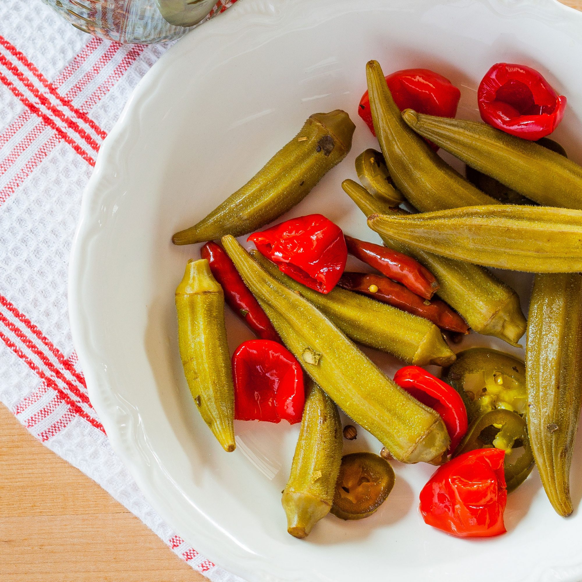 Sweet and Spicy Pickled Okra