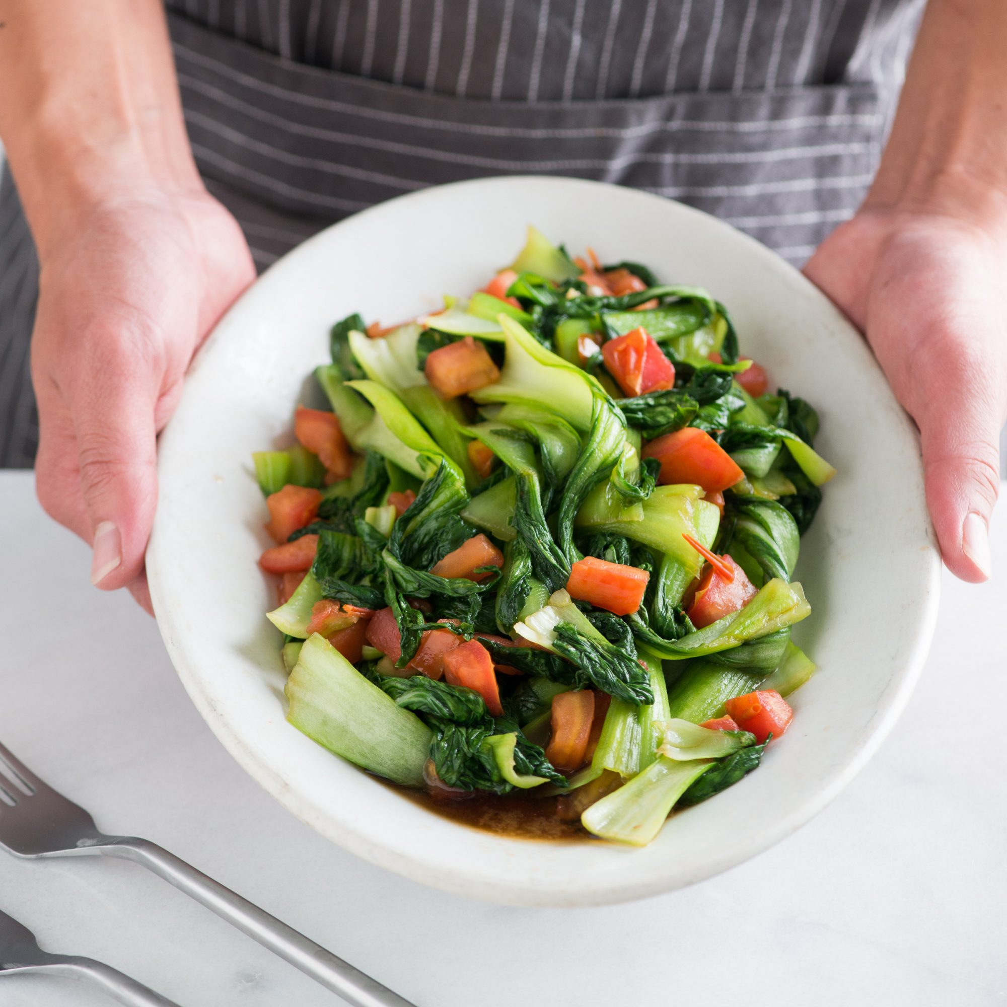 Stir Fried Bok Choy with Teriyaki Glaze