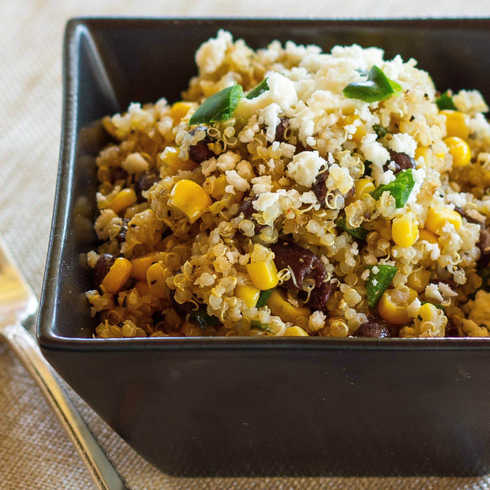 Southwestern Quinoa with Corn, Black Beans and Poblano