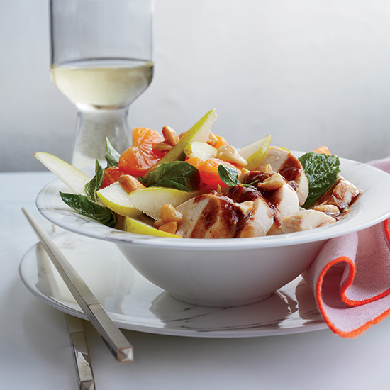 Chinese-Style Poached Chicken with Pear and Orange