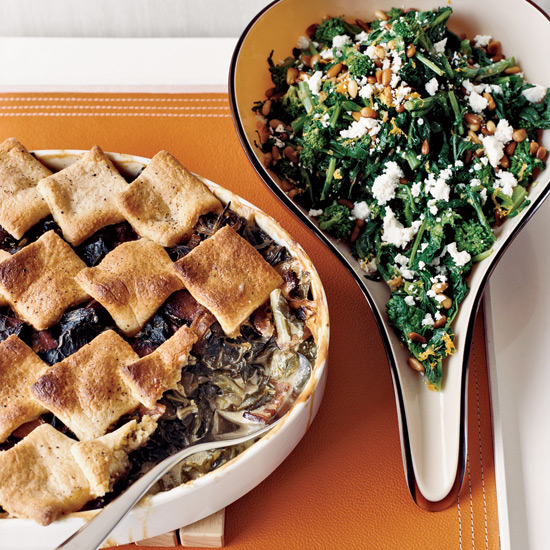 Collard Cobbler with Cornmeal Biscuits