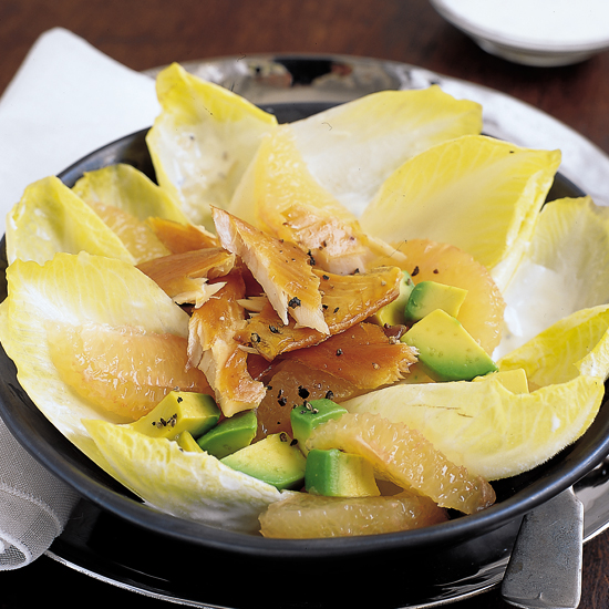 Endive and Grapefruit Salad with Smoked Trout