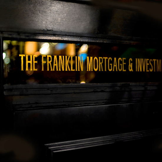 Speakeasy Bars: The Franklin Mortgage & Investment Co.