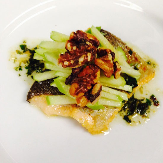 Trout, Green Apple, Toasted Walnuts