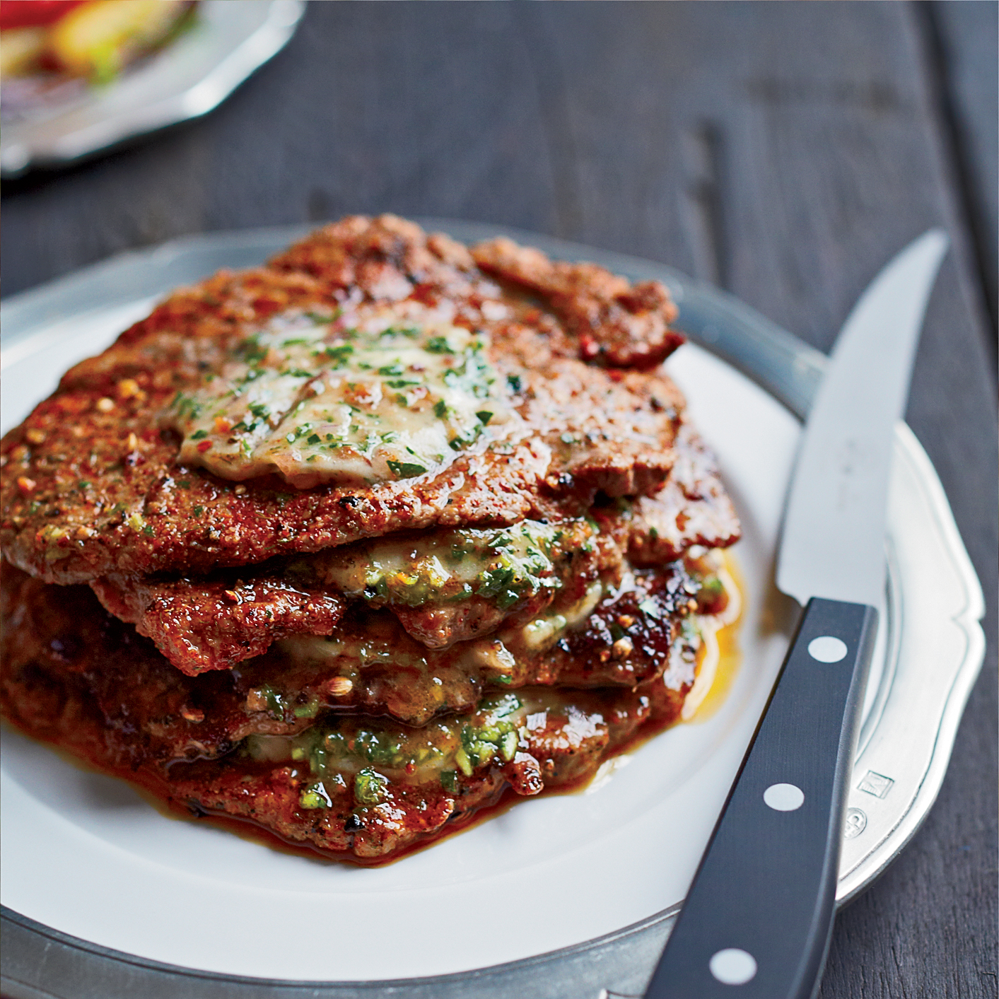 Minute Steak Stacks with Herbed Anchovy Butter